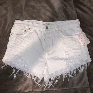 Free people white shorts /brand new with tags